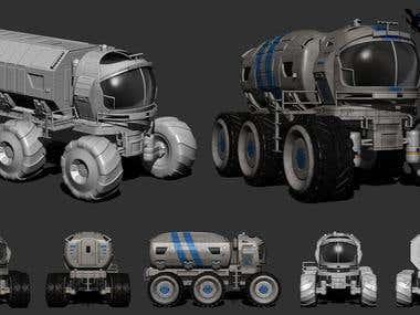 3D Lunar Vehicle - AAA