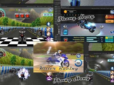 Unity3d Bike Racing game.