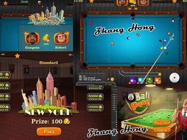 3D Biliard Game
