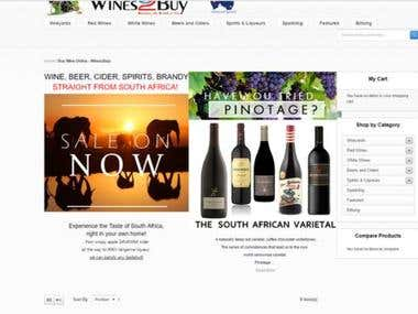 Wine Shopping Site