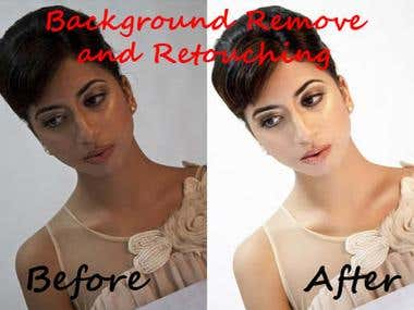 Background Remove, Retouch & Color Correction