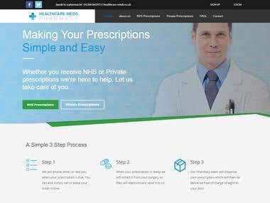 Creating a website from scratch for healthcare-meds.co.uk