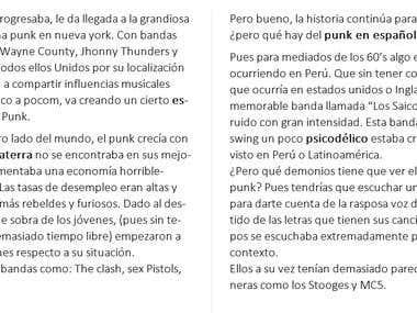 Spanish Article, including SEO keywords