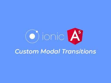 Ionic 3 – Adding Custom Animated Transitions to Modals