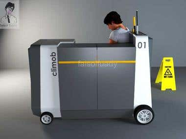 Cleaning cart design