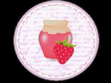 Diseño de etiqueta y Logotipo de Mermelily