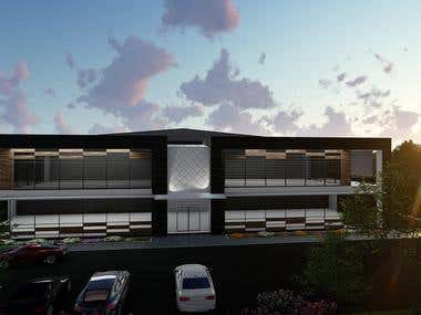Architecture design for new warehouse office building
