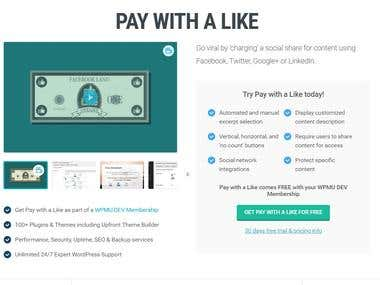 Pay with a Like WordPress Plugin