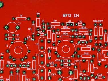 RF PCB designed in Altium Designer