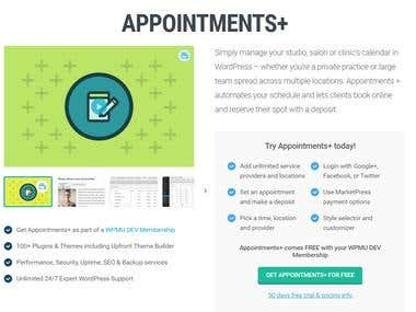 Appointments+ WordPress Plugin