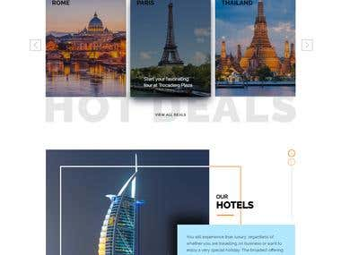 Travel Web page