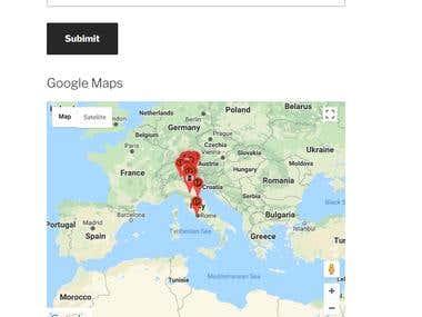 WORDPRESS PUGIN: Google maps markers