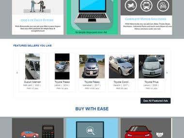 Motorscube (Vehicles Selling Website)