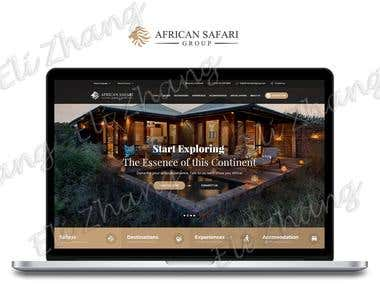 African Safari Group Responsive Website