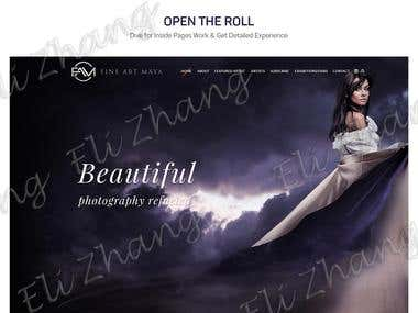 Fine Art Maya Responsive Website