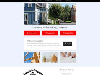 www.akerhagsbygg.se website creation