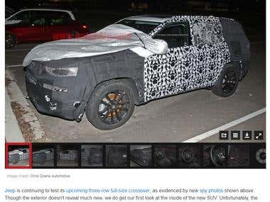 Jeep's 3-row crossover SUV caught inside and out