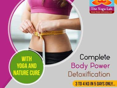 Social Media Banner Ad Post Design For Yoga Lab