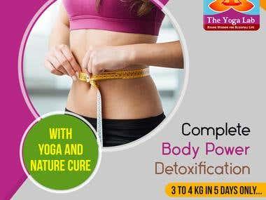 Social Media Banner Ad Post Design For Yoga Lab