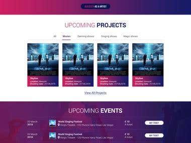 Website Homepage UI Design for Collabid