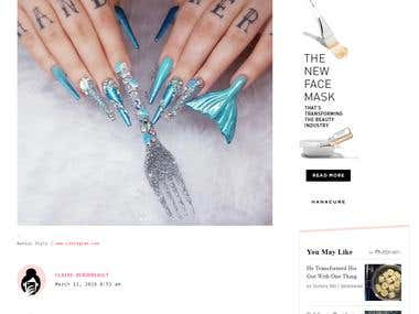 """This nail artist created """"The Little Mermaid""""-inspired nails"""