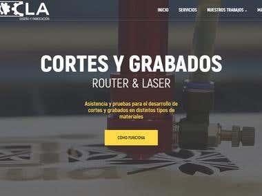 Diseño, maquetación y programación de sitio web corporativo