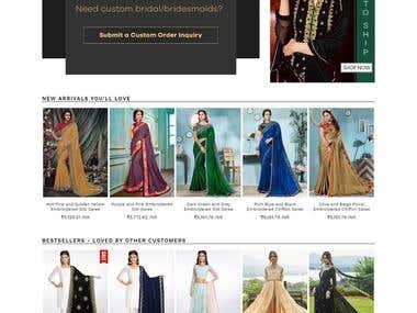 https://www.lashkaraa.com/ Fully E-commerce Website