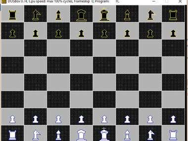 Two Player Chess Game in C