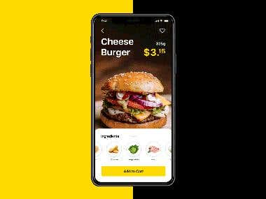 Burger iOS App for iphone X