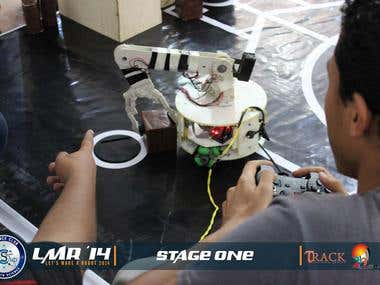 Mobile robot with robotics ARM