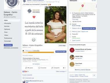 Captura de pantalla de uno de mis clientes de Facebook