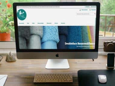 Magento E-Commerce Website - [ www.myo-stoffe.de]