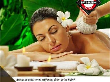 Social Media Banner Ad Post Design For Spa Station