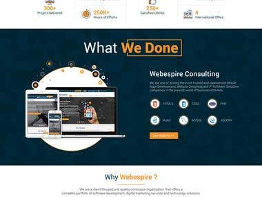 Website Homepage UI Design for Webespire