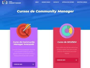 Diseño, maquetación y programacion web de cursos