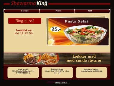 Fast food website