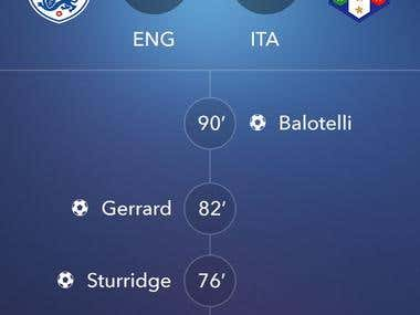 Mobile Football LiveScore App