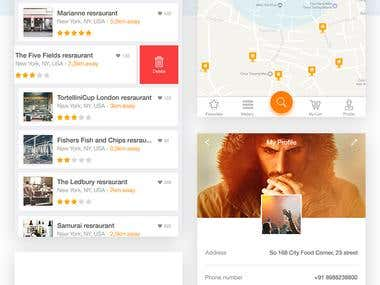City Food Corner app design