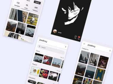 redesign pixbay app