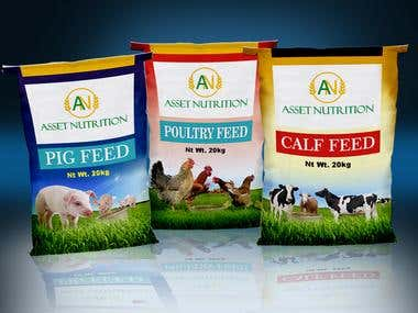 Design a print for the front of Stock feed bags