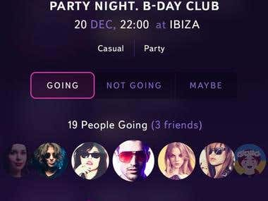 Mobile Party Sharing App