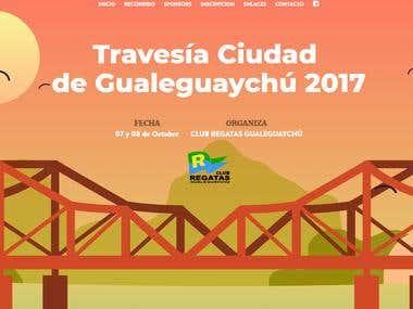 Diseño y maquetación sitio web para evento.