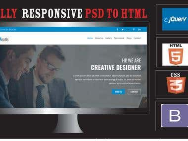 I Will Convert Psd To Html Responsive Css3 Using Bootstrap 4