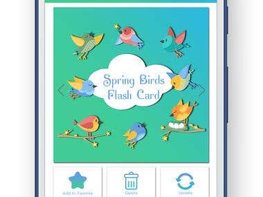 Design a user interface for an android app (Flash Card)