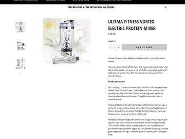 Ultima Fitness Product Description