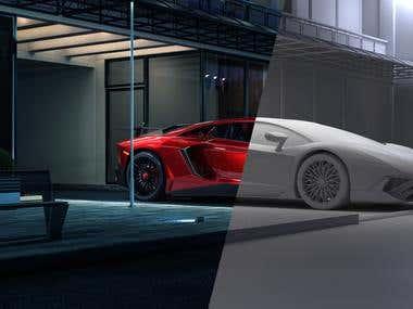 Lamborghini Aventador 2017 CGI Ad