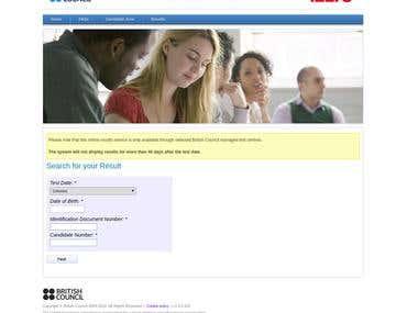 IELTS Online Reservation System
