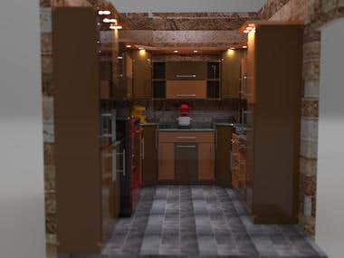 My first 3d designed kitchen and rendered
