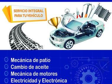 Poster para Centro de Servicio Automotriz