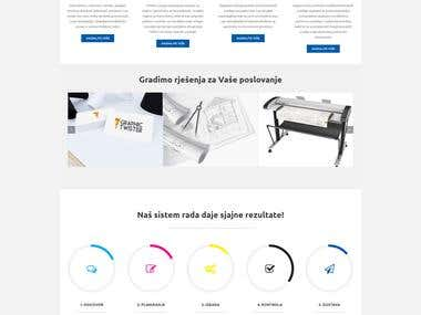 Website for local printing agency
